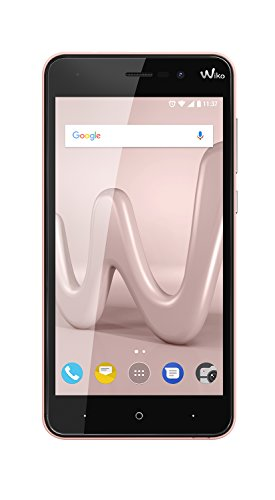 Wiko Lenny4-5 HD Smartphone (Dual SIM, 2 GB RAM, 16 GB interner Speicher, 8 und 5 MP Kameras mit LED-Blitz, Android 7.0 Nougat, Metallic-Finish) Rose gold