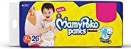 Mamypoko Diaper Pants Standard Style, Size Extra Large, 12-17 Kg (26 Counts)