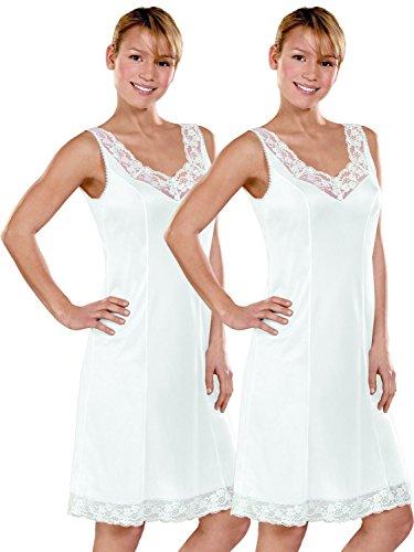 Cybele 2er Sparpack Damen Unterkleid 14870 Gr. 40-54 Weiss/Weiss