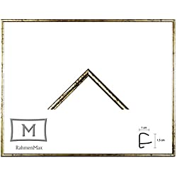 Iowa Kunststoff-Bilderrahmen 47x62 cm Posterrahmen 62x47 cm Farbwahl jetzt: Gold Antik mit 1 mm Acryglas klar