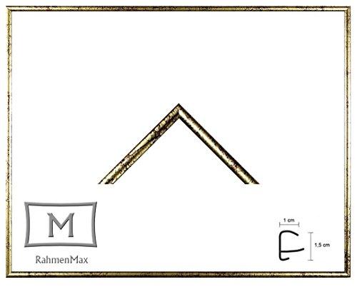 Iowa Kunststoff-Bilderrahmen 24x32 cm Posterrahmen 32x24 cm Farbwahl jetzt: Gold Antik mit 1 mm Acryglas klar