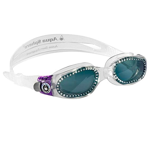 Aqua Sphere Kaiman Lady Schwimmbrille für Erwachsene–Transparent/Violett mit Dark Objektiv