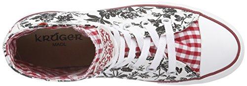 Sapatilhas 4116 preto Multicoloridas Kruger vermelho 409 Madl Mulheres Das qwzpCz