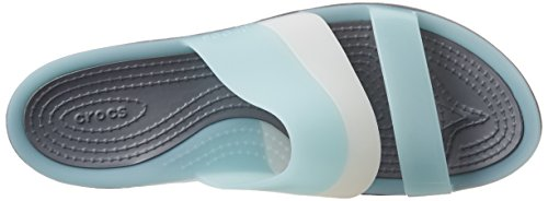 Crocs Colorblock W, Sandales - Femme Bleu (Sea Foam)