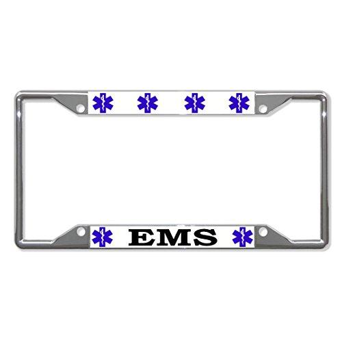 Moon EMS First REPONSE Metall-Kennzeichenhalter mit Vier Löchern perfekt für Herren und Damen, Auto-Garadge Dekor