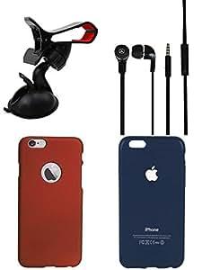 NIROSHA Cover Case Headphone Mobile Holder for Apple iPhone 6 - Combo