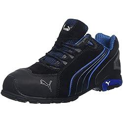 """Puma 642750-256-42 Chaussures de sécurité""""Rio"""" Low S3 SRC Taille 42 noir Gris/Bleu/Blanc"""