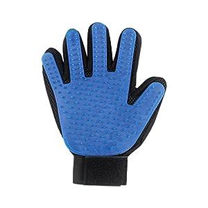 Haustier-Hundekatze Pflegender Handschuh-Haar-Remover-Bürsten-Handschuh für sanftes und leistungsfähiges Haustier-Pflegen Sauber, Blau