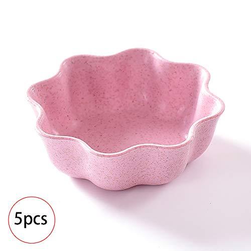 Hilai Umweltfreundliche Frucht-Platte Petal-Form-Süßigkeit Bowl Büro Snack Tray Set für 5 Snack Tray Set