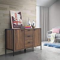 Timber Art Design Stretton Urban Dining Room 2 Door 3 Drawer Sideboard Server Storage Unit Rustic Industrial Medium Oak Effect