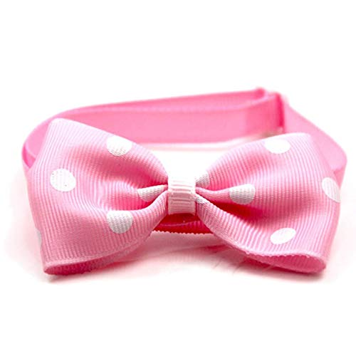 BianchiPamela Pet Supplies Adjustable Polka Dot Pet Bow Tie Dress Up Accessories Dog Jewelry -