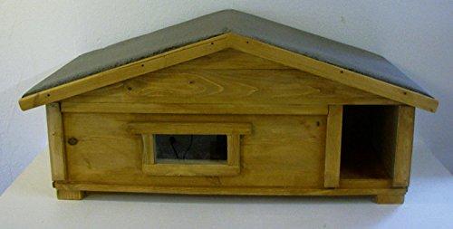 Katzenhaus Kleintierhaus outdoor mit Fenster und Windfang vollisoliert
