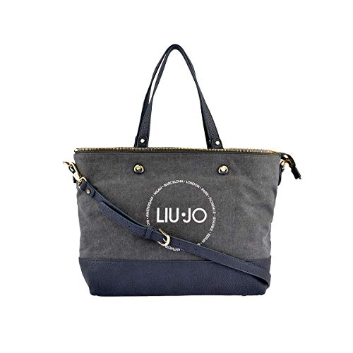 Liu Jo Poppa Canvas Shopping bag L Silver Filigree