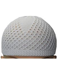 5f835b1243 Manaal Enterprises - Berretto in maglia - Uomo Bianco White Taglia unica