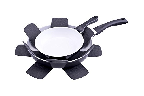culinario Set of 3 Pan Protectors - Stacking Aid to Prevent Scratching Pots & Pans - Anthracite - 38 x 38cm