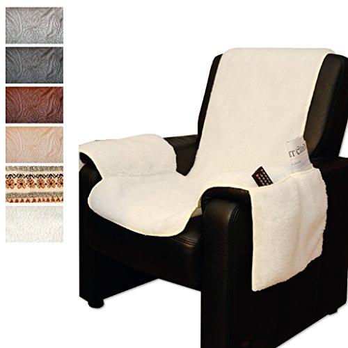 Sesselschoner Überwurf Lammflor Polsterschutz, Auswahl: Farbe - beige, Größe - 147cm x 147cm