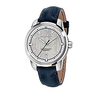Reloj para Hombre, Colección Successo, con Movimiento de Cuarzo y función Solo Tiempo con Calendario, en Acero y Cuero – R8851121010