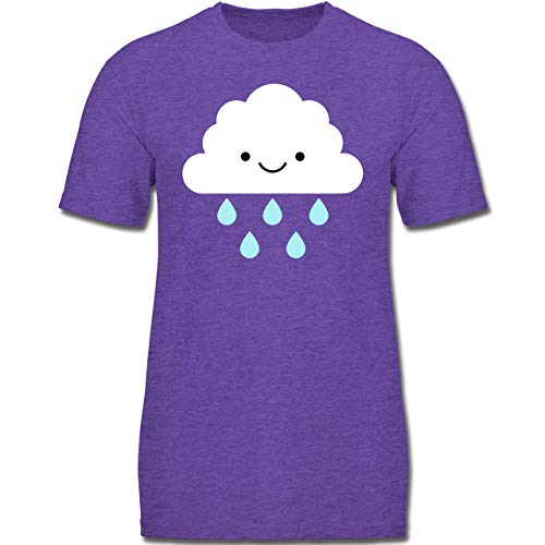 Karneval & Fasching Kinder - Regenwolke Karneval Kostüm - 164 (14-15 Jahre) - Lila Meliert - F130K - Jungen Kinder T-Shirt