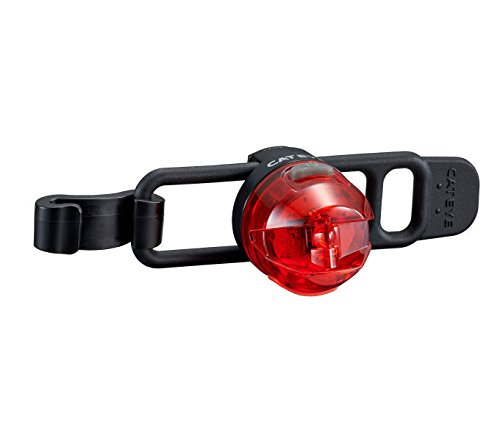 Cateye Loop 2G SL-LD140GRC Rücklicht, schwarz/Rot, One Size (Cateye Rücklicht-halterung)