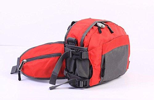 &ZHOU Männer und Frauen Sport Rucksack-Handtasche Großraum-Schultertasche Rucksack Messenger Mode Multifunktionshandtasche Messenger bag Red
