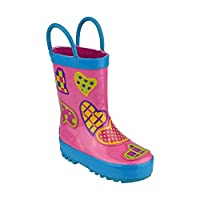 Cotswold Puddle Boot Girls Synthetic Material Wellies Hearts - 8.5 Infant