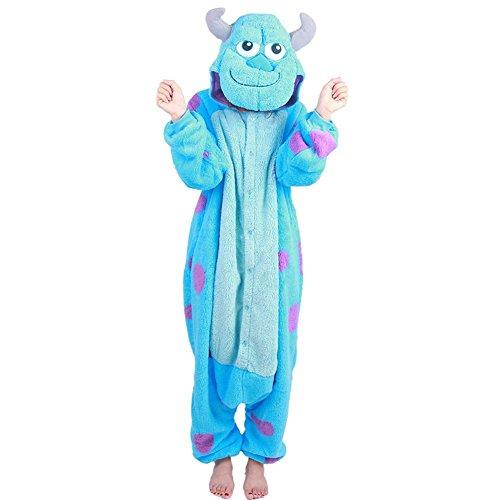 Erwachsene Kostüm Für Sully - Wealth Unisex Erwachsene Cosplay Einteiler Weihnachten Party Kostüm Sully-Pyjama Gr. Large, blau