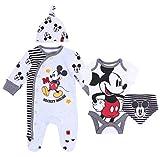 Grau-schwarzes Set Mickey Mouse Disney 3-6 Monate 68 cm