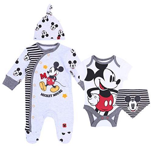 Grau-schwarzes Set Mickey Mouse Disney 0-3 Monate 62 cm