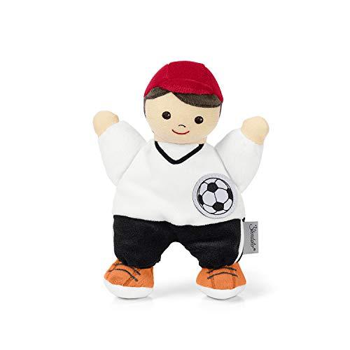 Sterntaler Spielpuppe Fußballer, Integrierte Rassel, Alter: Für Babys ab der Geburt, 18 cm, Bunt