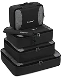 Packing Cubes 3 Set(M)/ 5 or 9 Set(XL/L/M/S/Shoe Bag) Luggage Travel Organizers