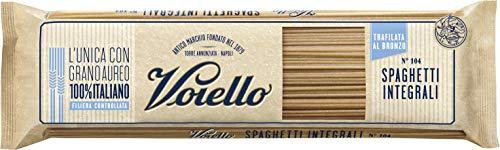 Voiello Pasta Spaghetti Integrale N.104, Pasta Lunga di Semola Grano Aureo 100% - 500 gr