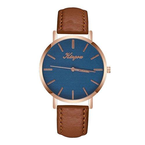 SOMESUN Herren Luxus Quarz Armbanduhren Männer Jungen Fashion Klassische Leder Metall Rostfreier Stahl Mechanisch Analog Uhr Wasserdicht Geschäft Büro Einfach Uhren (Braun #2)