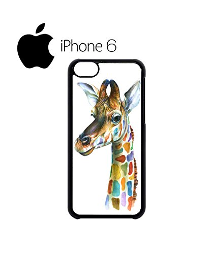 Giraffe Head Painting Colourful Swag Mobile Phone Case Back Cover Hülle Weiß Schwarz for iPhone 6 White Schwarz
