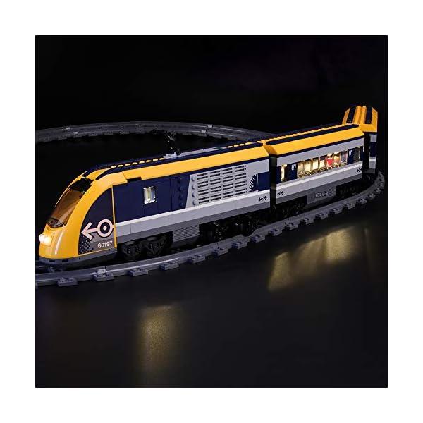 LIGHTAILING Set di Luci per (City Treno Passeggeri) Modello da Costruire - Kit Luce LED Compatibile con Lego 60197 (Non… 2 spesavip