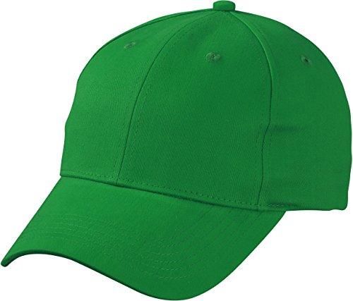 Klassisches 6 Panel Cap mit gebürsteter Oberfläche - Farbe: Fern Green - Größe: One - Fern-panel