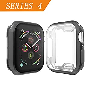 Cerike kompatibler Apple Watch Series 4 Displayschutz, Soft Slim FullAround Protective iWatch 4 Schutzhülle für Apple Watch Series 4 Smartwatch