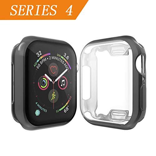 Cerike kompatibler Apple Watch 44mm Displayschutz, Soft Slim FullAround Protective hülle iWatch 4 Schutzhülle für Apple Watch Series 4 Smartwatch (44MM, Black)