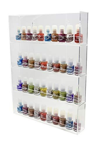 Preisvergleich Produktbild 1 x Präsentationsständer für Nagellack mit 4 Reihen für je 8 Nagellack-Fläschchen zur Befestigung an der Wand,  hochglänzendes Acrylmaterial,  ANPR26D-048