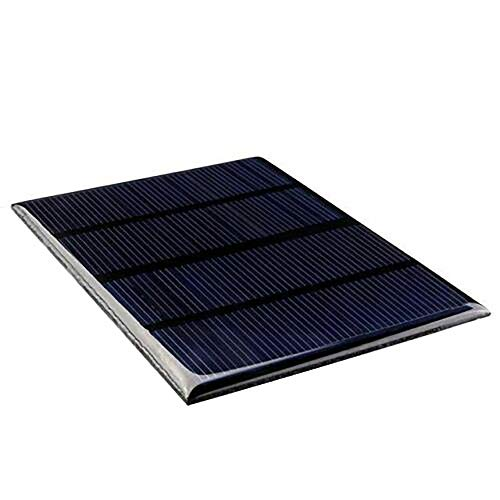Material: polysilicon class A Color: color of the picture Size: 115 * 85 * 30 mm Weight: 50 g List of products: 1 * solar panels Power: 1.5 W Operating current: 0-125ma Short circuit current: 125MA Working voltage: 12v Short circuit voltage: 13.5V  ...