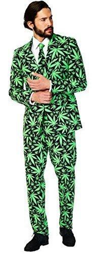 g Cannaboss Cannabis Designer Alle Größen - Grün, EU 56 (Herren Opposuits Grünen Anzug)