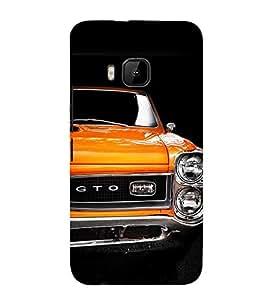 Stylish Orange Car 3D Hard Polycarbonate Designer Back Case Cover for HTC One M9 :: HTC M9 :: HTC One Hima