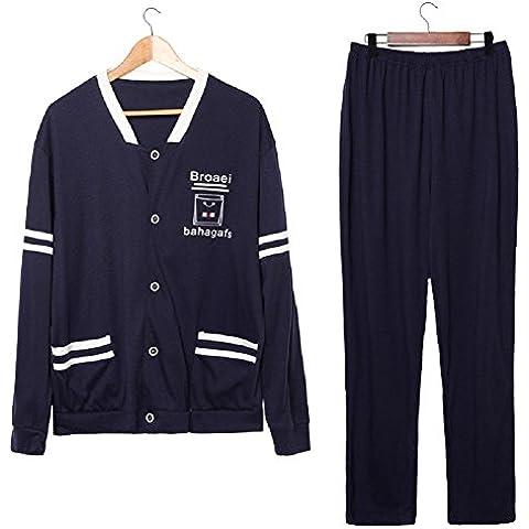 LIUDOU Pijamas de béisbol Set pijama primavera otoño damas hombres , male , l