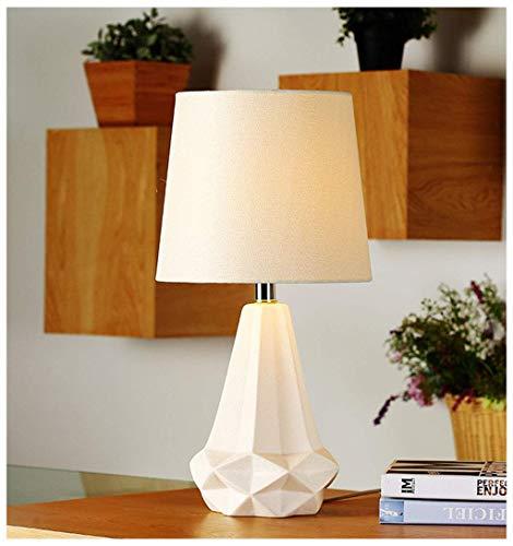 MJK Nachttischlampe, Nordic Ceramics Schreibtischlampen, Kreative Einfache Moderne Dekoration Tischleuchte für Nachttisch/Wohnzimmer/Schlafzimmer/Arbeitszimmer/Geschäft/Büro Schreibtisch -
