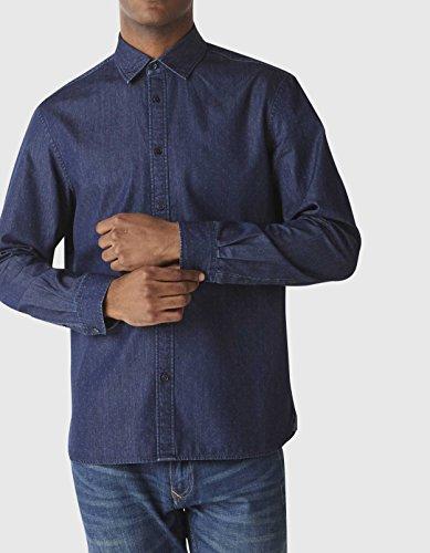 Celio Daball - Chemise casual - Taille normale - Col classique - Manches longues - Homme Bleu (Indigo)