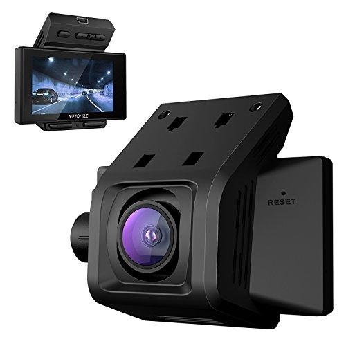 Vetomile V1 Cámara de Coche 1080P Full HD Car Dash Cam Gran Ángulo 170° Retrovisor DVR Grabadora Vídeo de Detección de Movimiento Visión Noctura G-sensor Ciclo de Grabación Pantalla LCD