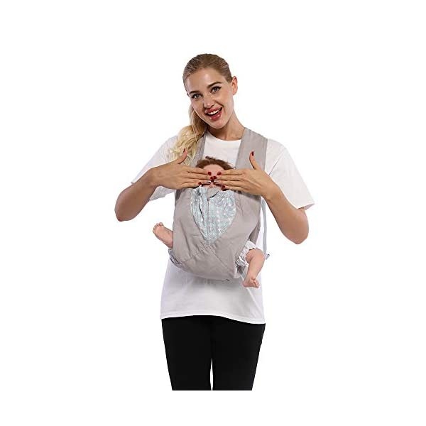 Cuby Best Organic Baby Carrier Cozy Cotton Baby Wrap X-Type Newborn Baby Sling Portabebe Ergonomica Kanguru Baby Carrier Rated (New Silver) VRbabies 💖ENJOY FREE HANDS AGAIN: Get your freedom back. Do housework, grab a coffee, shop & tend to other kids while keeping baby close. Baby stays happy while you're more productive & less stressed. Great for fussy babies! 💖STRENGTHEN BOND WITH BABY: Forging a close bond with your infant is vital to their development. Our baby carrier keeps baby close to your warm body & heartbeat where they feel safe & secure. For newborn - 35 lbs. 💖UNBEATABLE QUALITY: Manufactured with premium materials to ensure years of use and repeated washings. Sturdy fabric holds your baby safely & securely. This is a baby carrier you'll pass on to friends and family! 5
