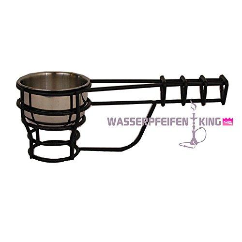 ShiSha MYA Kohleschale - Kohlebehälter für angezündete Kohle - Kohlekorb- black