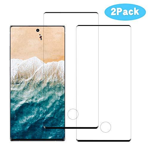 Verre Trempé Samsung Note 10 Plus, Protection écran [Conception Precise] [Facile à Installer] [Haute Transparence] [Anti-Huile & Anti-Fingerprint] [2 Pièces] Protége écran Samsung Note 10 Plus