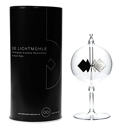 Cipin Glas Black Edition Lichtmühle Radiometer, Glas, Transparent, 8 x 8 x 16 cm Mobile Black-box