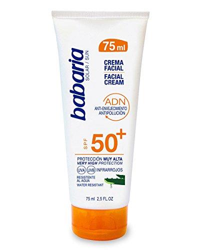 babaria Sonne Creme Gesichtspflege Aloe 75F-50